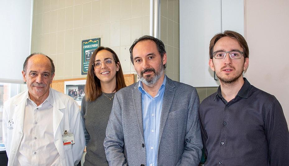 De izquierda a derecha: Dr. Julio Sanjuán, Lucía Bonet, Ignacio Blanquer y David Arce.