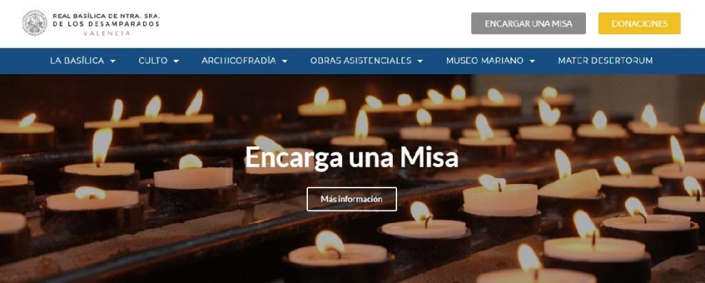 Nueva web de la Basílica de la Virgen/Img. informaValecia.com
