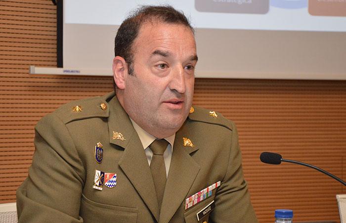 Comandante Manuel Vázquez, de la Sección de Comunicación Estratégica del JEMAD/Img.UCV