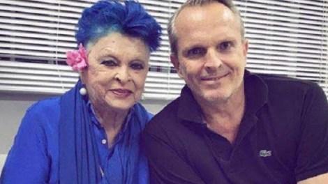 La actriz Lucía Bosé y su hijo, Miguel/twitter