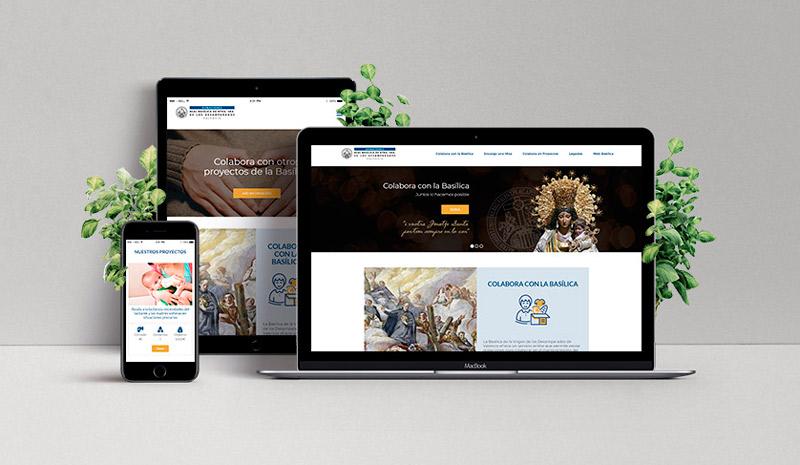 Nueva página web e la Basílica de la Virgen/Archidiócesis