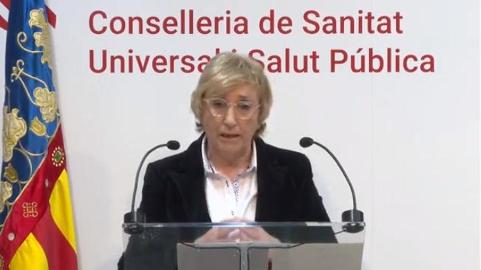 La consellera Barceló durante su comparecencia del lunes 20 de abril/informaValencia.com