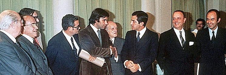 Firma de los Pactos de la Moncloa en 1.977/archivo informaValencia.com