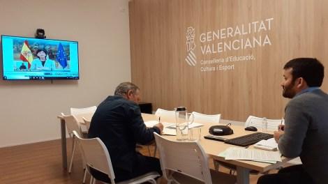 Marà durante la videoconferencia de Educación/GVA