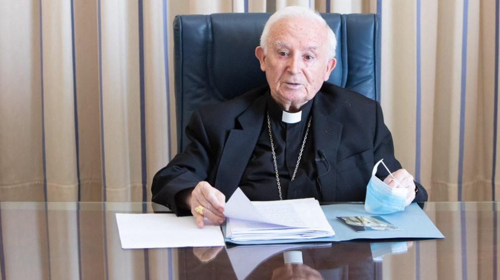 El Cardenal Cañizares durante la presentación de la Comisión diocesana/V.Gutiérrez