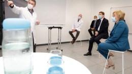 Puig y Barceló en los laboratorios General de Análisis, Materiales y Servicios (Gamaser)/GVA