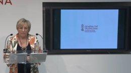 La consellera Ana Barceló durante su comparecencia ante los medios de comunicación/informaValencia.com