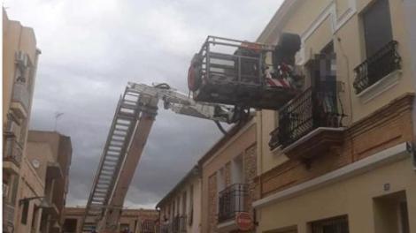 Imagen del rescate de los BOMBEROS