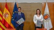 El rector de la Universitat Politècnica de València (UPV), Francisco Mora, y la presidenta de EDEM Escuela de Empresarios, Hortensia Roig,/Img. informaValencia.com