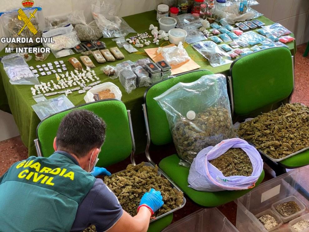 Más de 100 agentes de la Guardia Civil detienen a 49 personas por tráfico de drogas/Img. GC