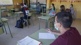 Mascarilllas en las aulas./Foto archivo iV.com