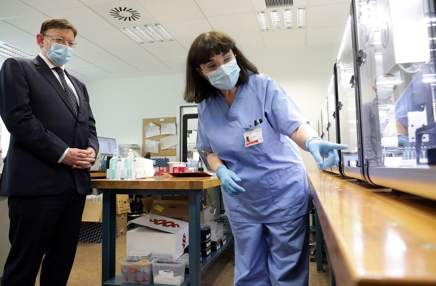 Puig anuncia la incorporación de una estación robotizada en La Fe que incrementará en 2.000 las PCR diarias/informaValencia.com