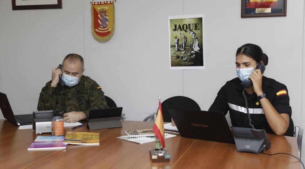 Rastreadores de la UME en la Base Militar de la OTAN en Bétera, Valencia -informaValencia.com
