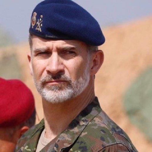 Su Majestad el Rey en la Base Alvarez De Sotomayor, Viator, Almeria. Img. archivo informaValencia.com