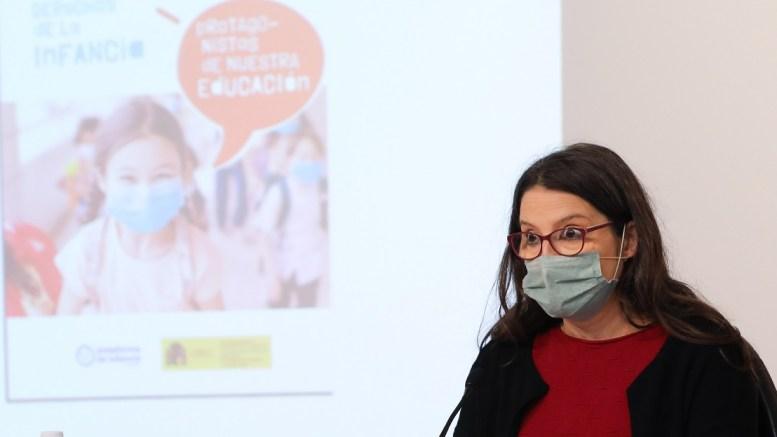 Mónica Oltra en sala de prensa tras el Pleno del Consell/GVA