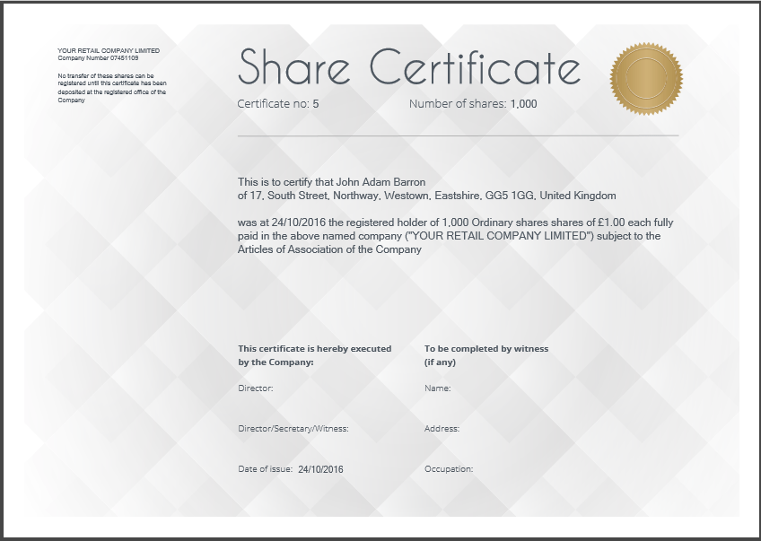 Doc1024661 Uk Share Certificate Template Free share – Shareholder Certificate Template
