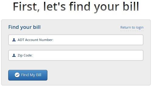 Adt Billing Number