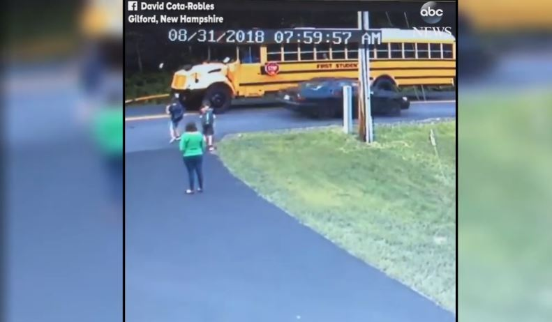 CAR ALMOST HITS BOY WALKING TO SCHOOL BUS_1536588591590.JPG.jpg