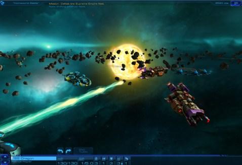 Sid Meier's Starships : Screenshot Combat HarmonyShot