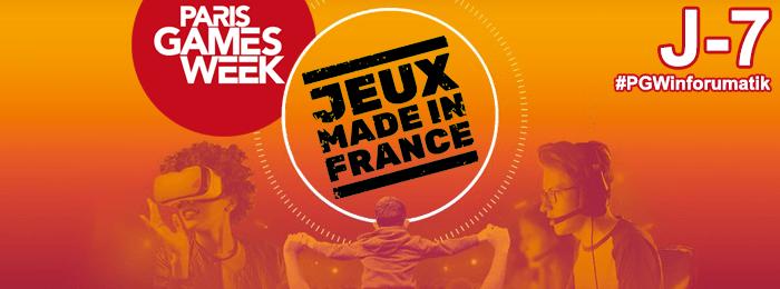 Paris Games Week 2018 : Jeux Made in France