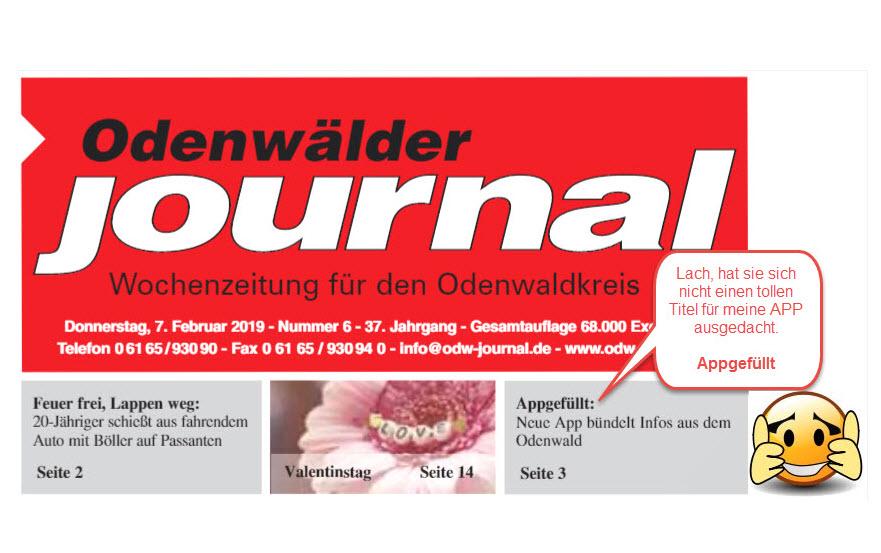 Pressebericht zur APP Odenwald Plus mehr