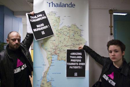 L'office de tourisme thaïlandais occupé par des militants d'Act Up-Paris