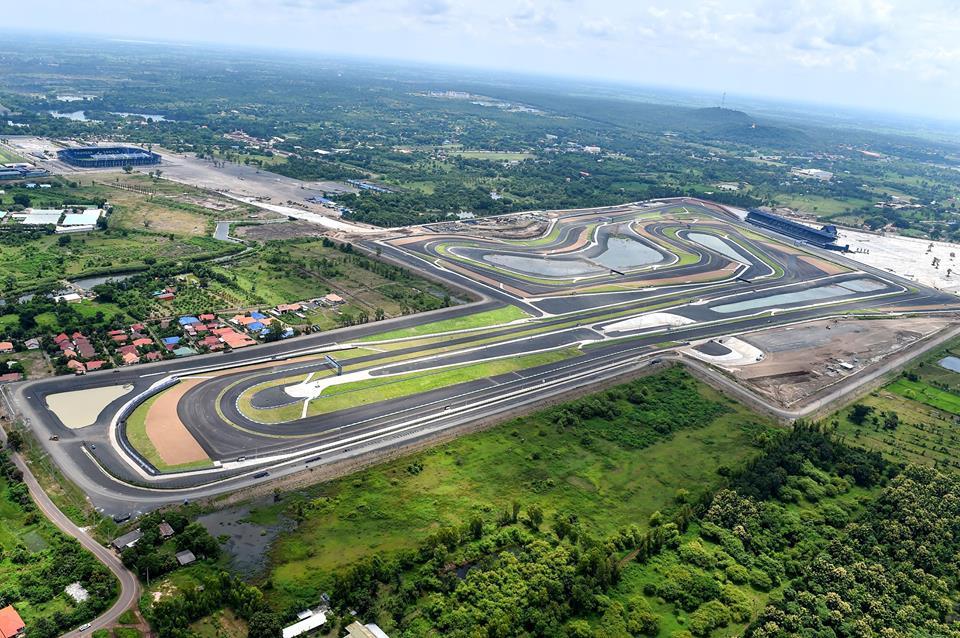 Vue aérienne du nouveau circuit de Buriram