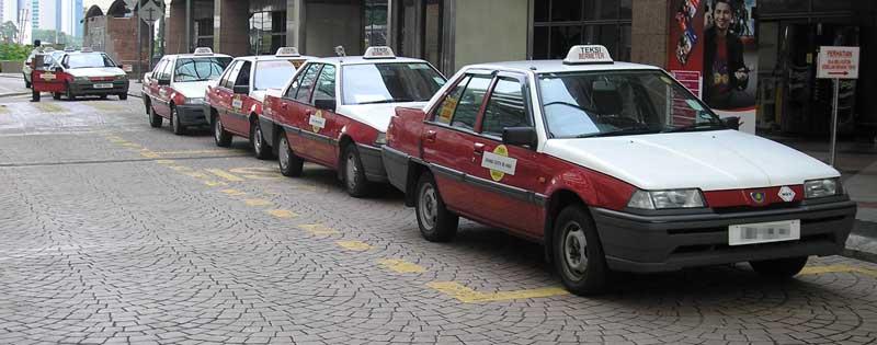 Les taxis de Kuala Lumpur - source : Wikipédia