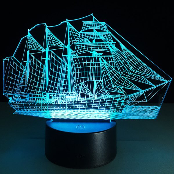 Sailing Ship 3D Night Light