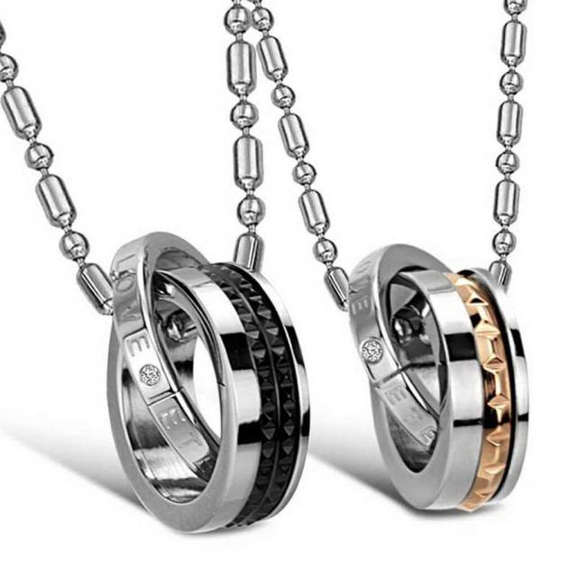 Hadiah perempuan set necklace couple v2