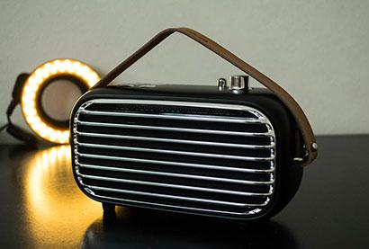 Elysium Iron Mini radio moden rekabentuk antik