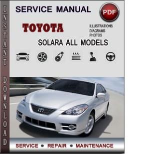2006 Toyota camry solara owners manual pdf