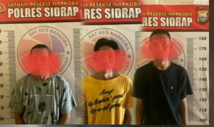 Terkait Kepemilikan Sabu, Tiga Warga Rappang Kembali Diamankan Satres Narkoba