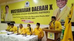 Sah, H Pilli Terpilih Secara Aklamasi Pimpin DPD II Partai Golkar Sidrap