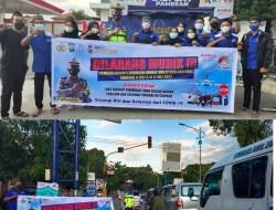 Sat Lantas Polres Sidrap Gelar Sosialisasi Larangan Mudik & Pencegahan Covid 19