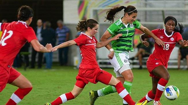 Sinclair à un but de Mia Hamm après un doublé lors de la victoire 3-0 sur le Mexique
