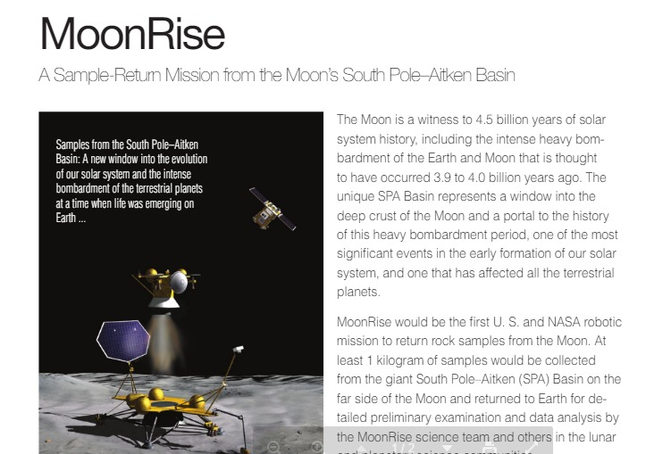 PDF. An Overview of the MoonRise Lunar Sample Return Mission from the South Pole-Aitken Basin