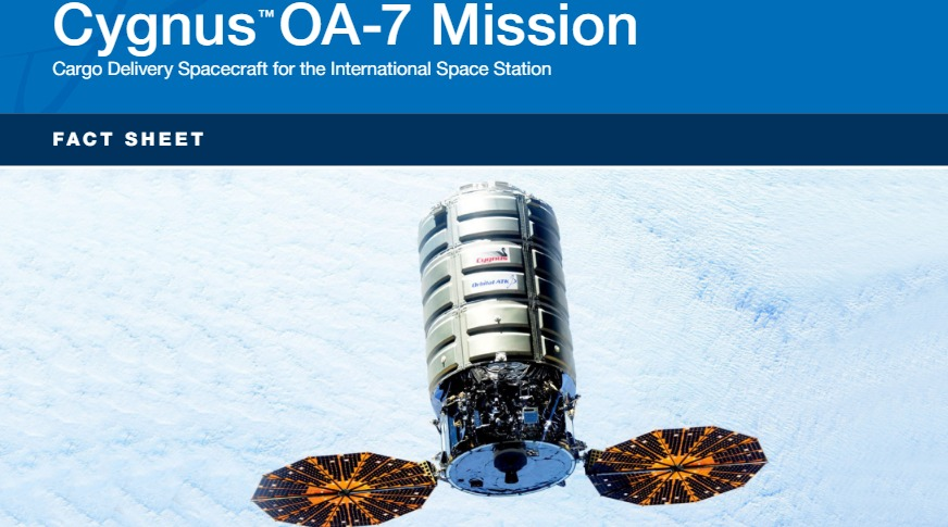 PDF. Cygnus OA-7 Mission Fact Sheet. Orbital ATK