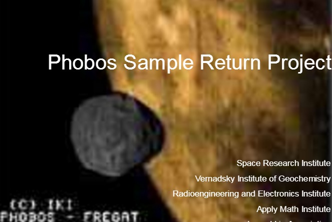PDF. Sonda Propuesta. Phobos Sample Return Project