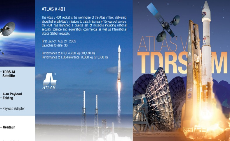 PDF. Atlas V - TDRS-M Mission Overview