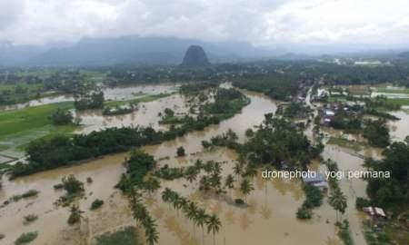 Banjir di Kabupaten Limapuluh Kota | Foto Drone oleh Yogi Permana
