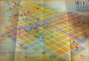 Mapa de Bibliotecas de Oaxaca. Foto de la autora