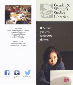 Gender and Women's Studies Librarian