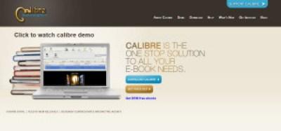 Interfaz de sitio web de Calibre
