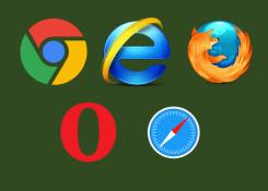 Ranking dos melhores navegadores da atualidade.