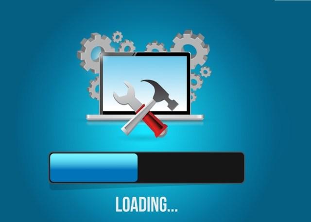Computador carregando o sistema