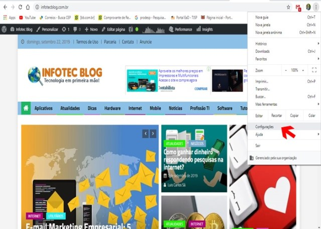 Alterar idioma Google Chrome