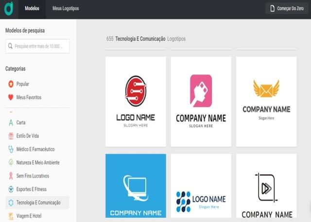 DesignEvo - Logos profissionais