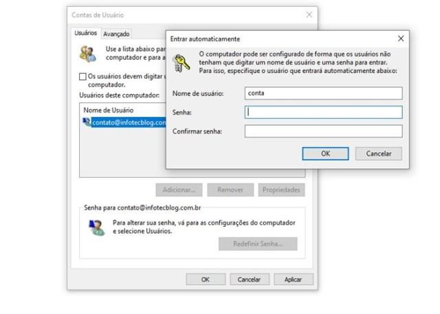 Como Fazer Login automático no Windows?