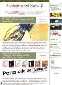Diseño de blog para la comunidad Alquimistas del Diseño
